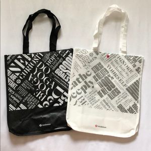 Set of Large Special Edition Lululemon Tote Bags